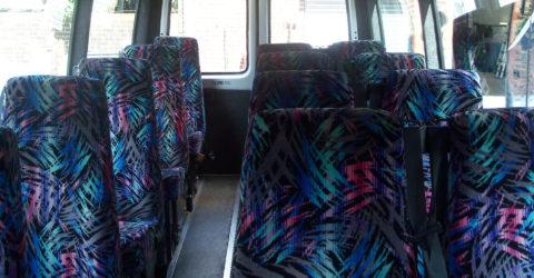 Interior of 16-Seater Davian Mini Bus