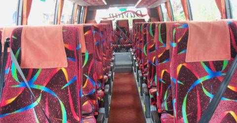 Interior of 35-Seater Davian Midi Coach