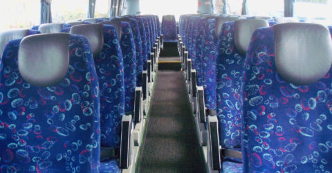 Interior of 53-Seater Luxury Davian Coach
