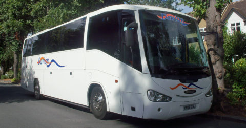 Outside of 53-Seater Davian Coach