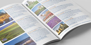 Inside pages for the Davian Coaches 2017 day trip and holiday brochure