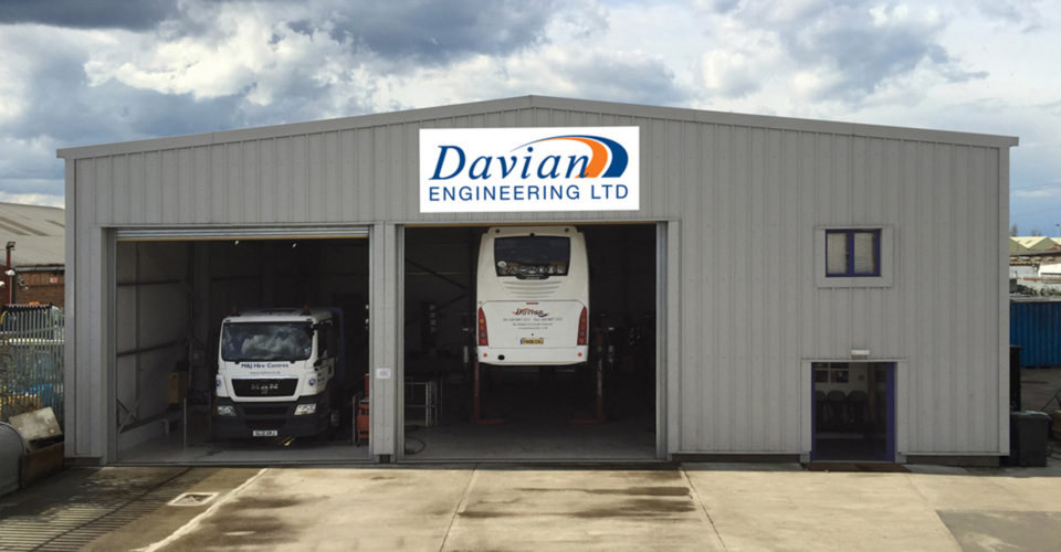 Outside view of the Davian Coaches workshop